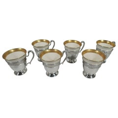 Set of Six American Sterling Silver Demitasse Holders