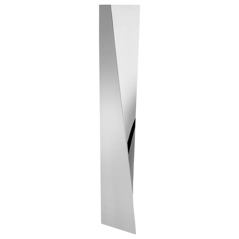 "Vase in Handmade Stainless Steel ""Crevasse"" by Zaha Hadid for Alessi"