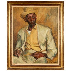 S. Lafarge American, 20th Century Oil Portrait of a New Orleans Cook