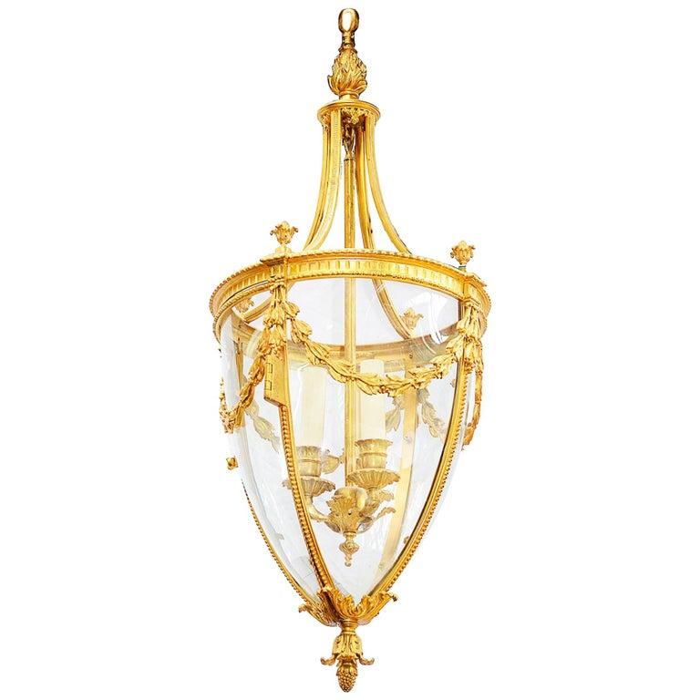 19th Century French Hall Lantern