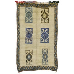 Vintage Berber Moroccan Rug with Tribal Style and Kotchanak Motifs
