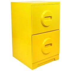 Mod Yellow Plastic Akro-Mils Filing Cabinet