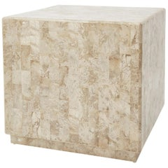 "Postmodern Tessellated Stone ""Searfoss"" Side Table, 1990s"