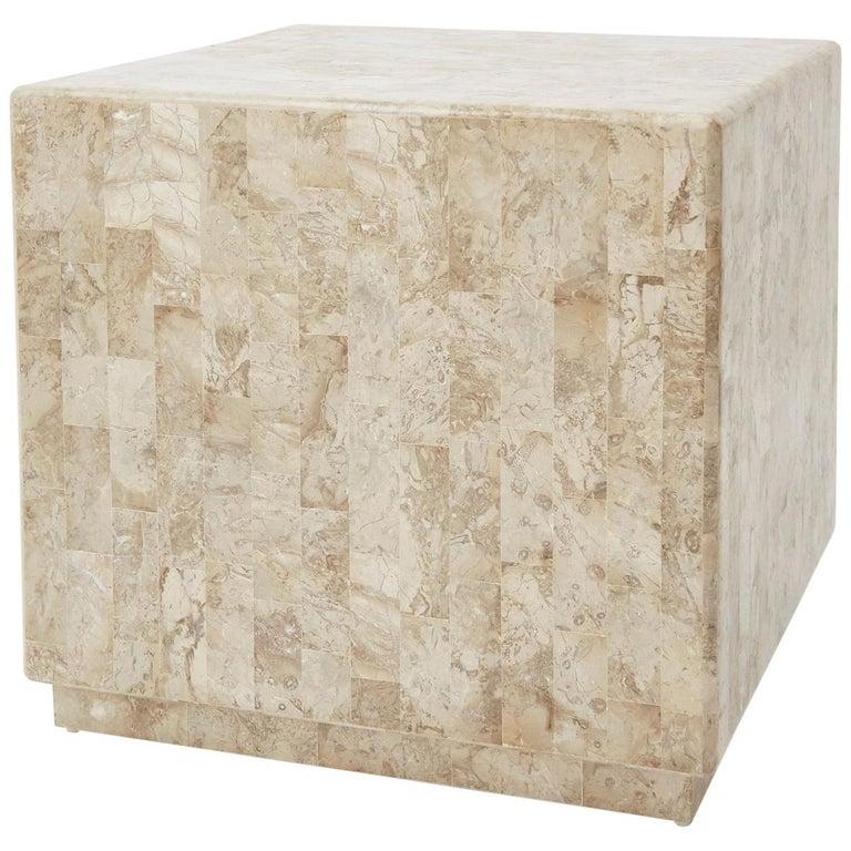 "Postmodern Tessellated Stone ""Searfoss"" Side Table, 1990s"