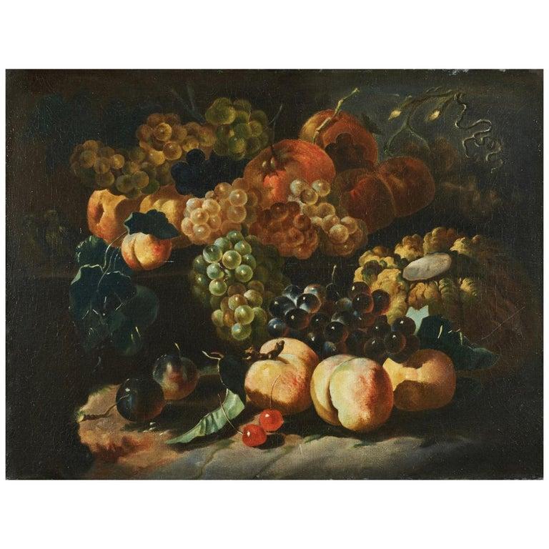 Natura Morta, Spadino Junior 18th Century Oil on Canvas Still Life Painting