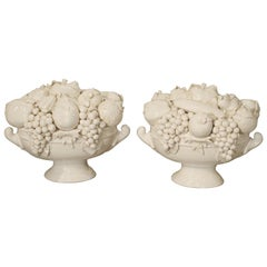 Pair of Decorative Italian Creamware Bowls