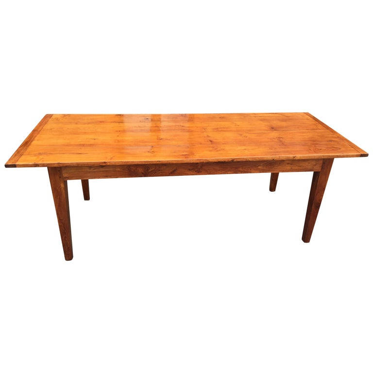 19th century Chestnut Farmhouse Table. French C 1880