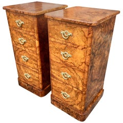 Bedside Cabinets in Walnut, circa 1880