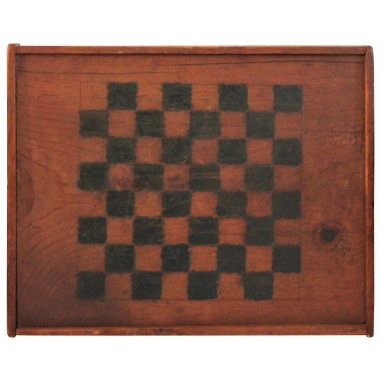 19th Century Original Painted and Signed Gameboard from Pennsylvania For Sale