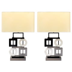 Febe Table Lamp by Attilio Amato for Laudarte Srl of Italy, Pair Available