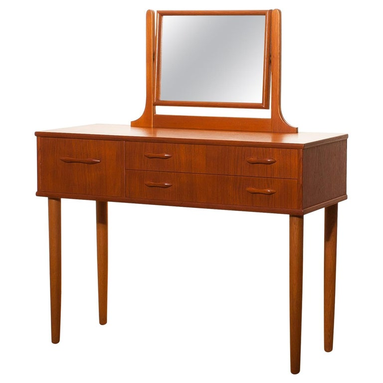 1950s Beautiful Teak Dressing Table by Ulferts, Sweden For Sale