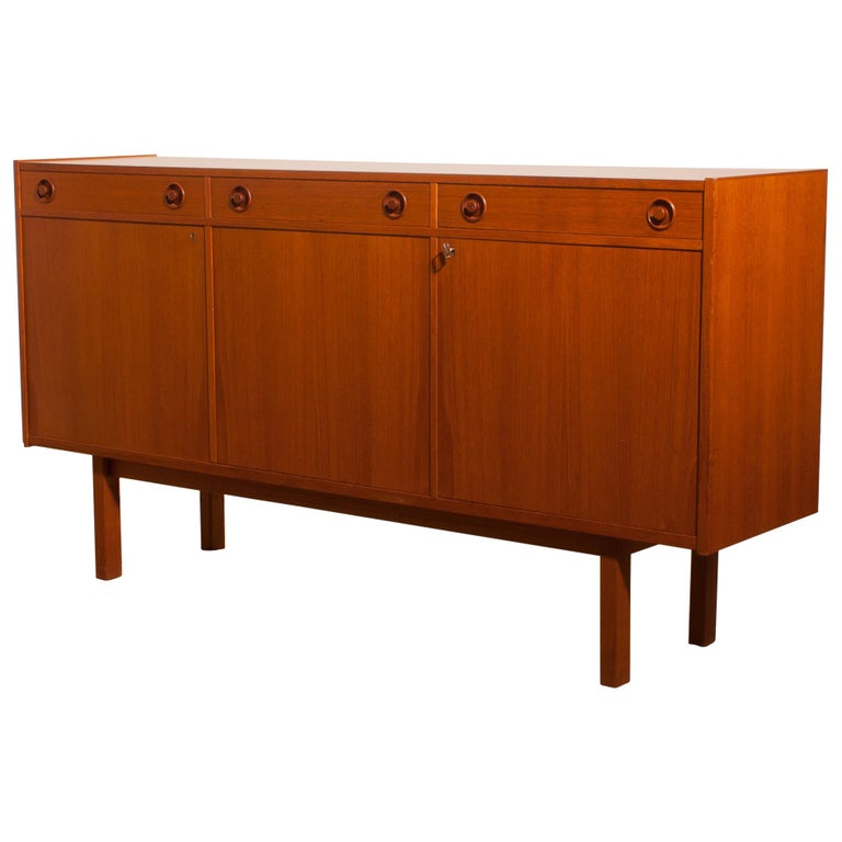 1950s, Teak Sideboard by Brexo Möbler, Sweden For Sale