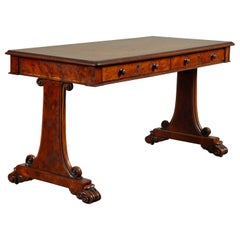 Early 19th Century English Yew and Elm Writing Table