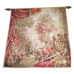 French Louis XVI Style Handmade Tapestry, Mid-20th Century