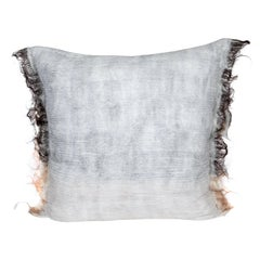 Hand Felted Reversible Wool & Silk Pillow W Natural Edge, in Stock