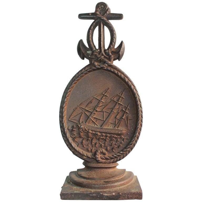 Nautical Ship Iron  Door Stop For Sale