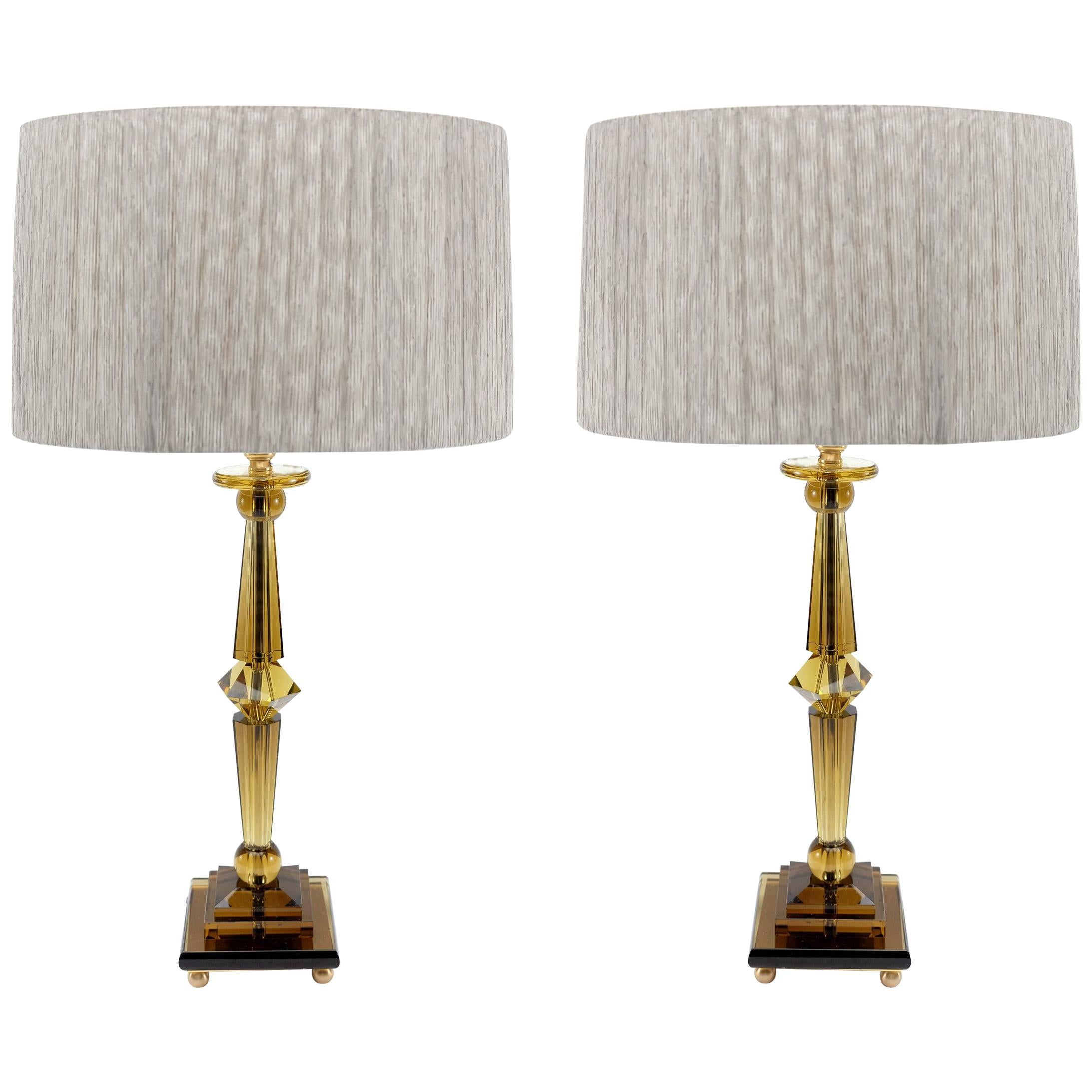 Prisma Big Table Lamp By Attilio Amato For Laudarte Srl, Pair Available For  Sale