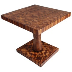 Inlaid Folk Art Side Table