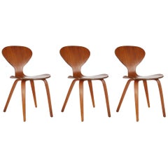 Mid-Century Modern Plywood Dining Chair by Norman Cherner for Plycraft