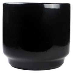 Black Glossy Gainey / Architectural Pottery Style Planter