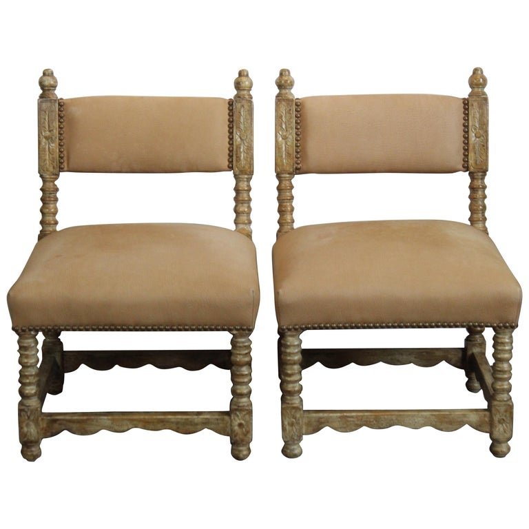 Pair of Spanish Style Chairs For Sale