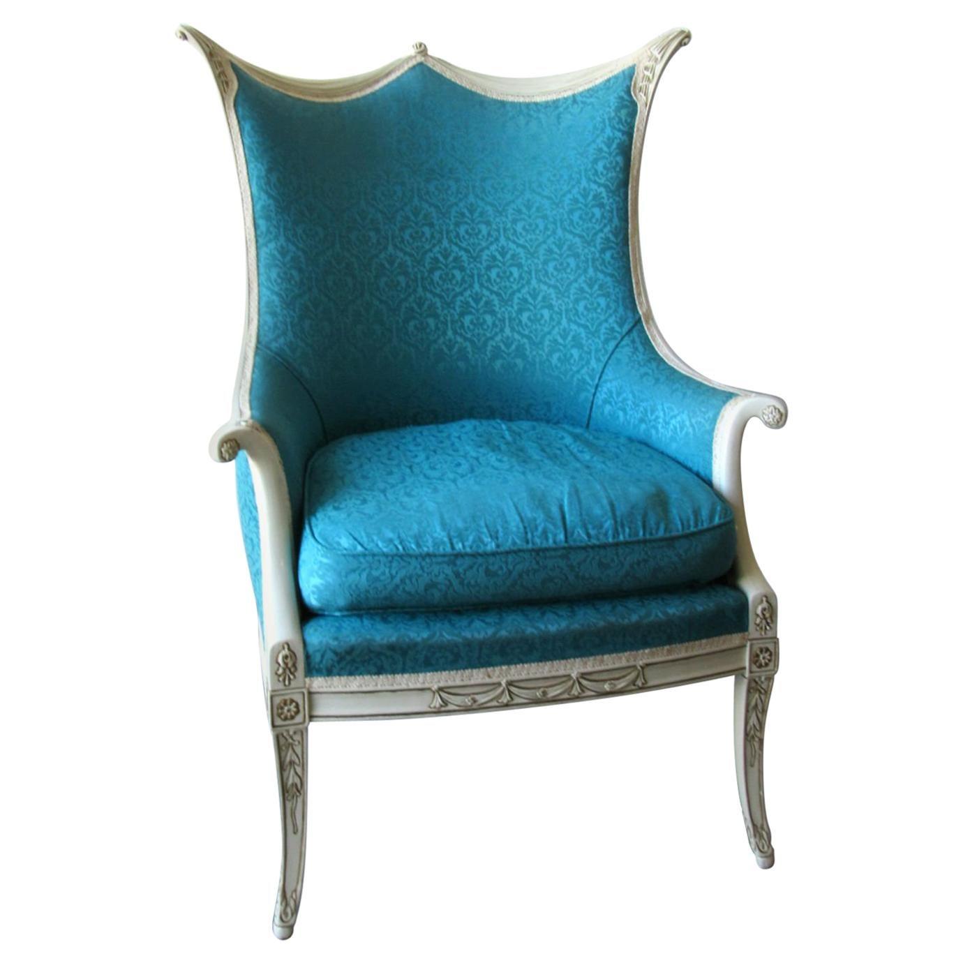 Hollywood Regency Armchair Style Of Dorothy Draper Or Grosfeld House For  Sale