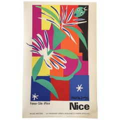Original Vintage French Art & Exhibition Poster, Henri Matisse, 1960s, Nice