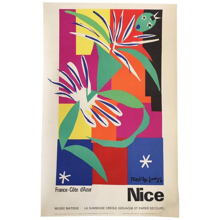 Original Vintage French Art & Exhibition Poster, Henri Matisse, 1960s, Nice
