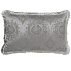 Brabbu Mandala Pillow in Gray Linen