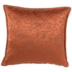 Brabbu Marmur Pillow in Orange Satin