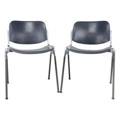 Pair of Italian Modern Castelli DSC 106 Chairs by Giancarlo Piretti