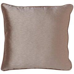 Brabbu Sakura Pillow in Taupe Satin