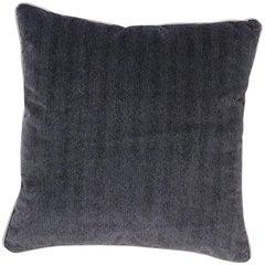 Brabbu Coriolus Pillow in Textured Blue Velvet