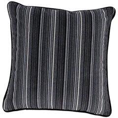 Brabbu Versicolor Pillow in Gray Velvet with Stripe Pattern