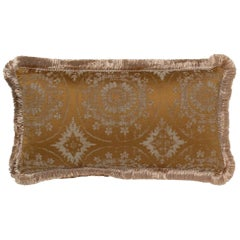 Brabbu Mandala Pillow in Gold Linen