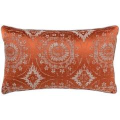 Brabbu Mandala Pillow in Orange Linen