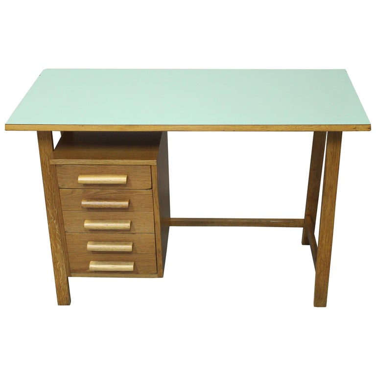 Midcentury Child S Desk With A Set Of Drawers