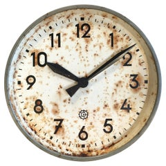 Large Industrial Factory Wall Clock from Chronotechna, 1950s
