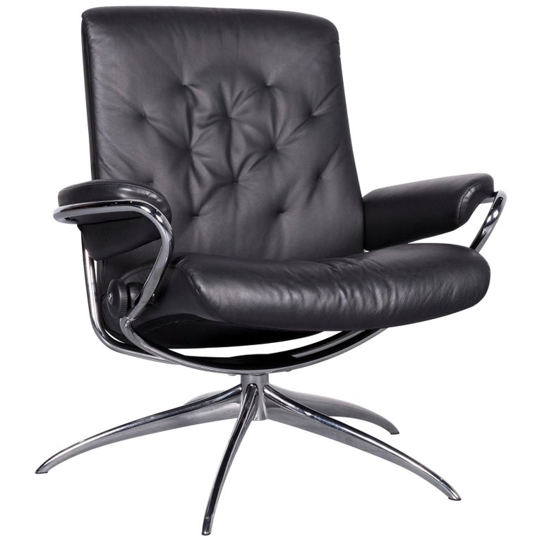 Ekornes Stressless Metro M Low Back Designer Leather Office Chair Black For