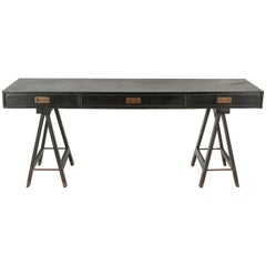 Exceptional Console or Desk by Jacques Adnet