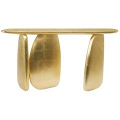 Brabbu Ardara Console Table in Gold Leaf