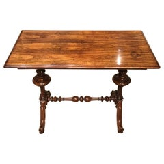 William IV Period Rosewood Rectangular Stretcher Table Probably by Gillows