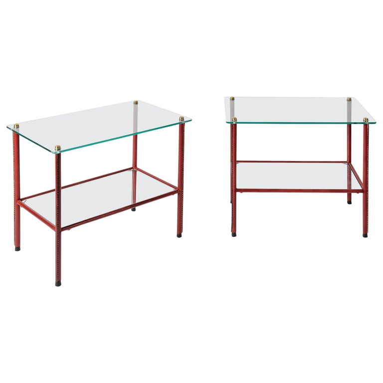 Pair of Side Tables by Jacques Adnet