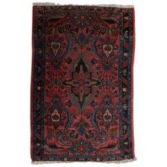 Hand-Knotted Wool Persian Josan Sarouk Mat, 20th Century