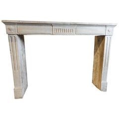 19th Century Empire Fireplace in French Limestone