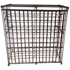 First Half of the 20th Century French Metal Wine Rack for 200 Bottles