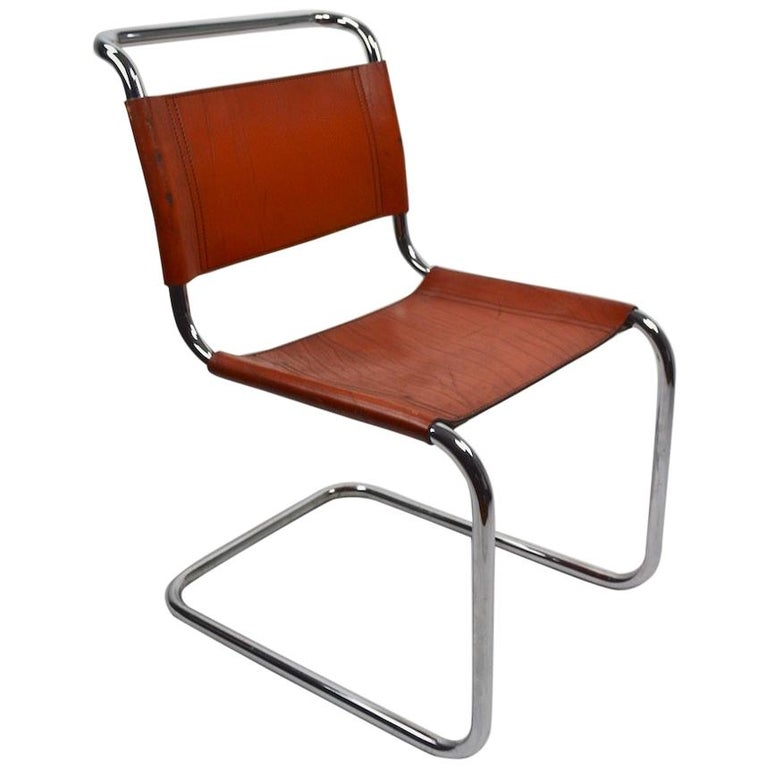 Set of Six Spoleto Chairs Attributed to Knoll After Breuer For Sale