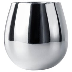 Tib Silver-Plated High Glass with Round Shape Designed by Kristina Niedderer