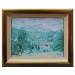 """Rolf Harris """"Mont Sainte Victoire"""" Limited Edition Signed Giclee Framed"""