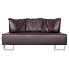 De Sede DS 165 Designer Leather Sofa Brown Two-Seat Couch